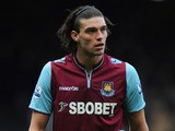 Andy Carroll of West Ham United looks on during the Barclays Premier League match between West Ham United and West Bromwich Albion on March 30, 2013