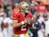San Francisco 49ers' Colt McCoy in action on August 8, 2013