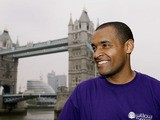 Mark Bright poses for the media during the Press Conference and Photo Call for the London Marathon on April 15, 2005