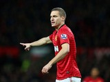 Nemanja Vidic of Manchester United in action during the Barclays Premier League match between Manchester United and Sunderland on December 15, 2012