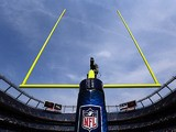 A general view of the NFL goal on September 23, 2012