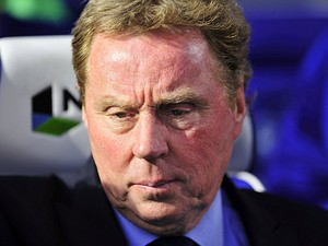 QPR manager Harry Redknapp in the dugout during the match against Arsenal on May 4, 2013