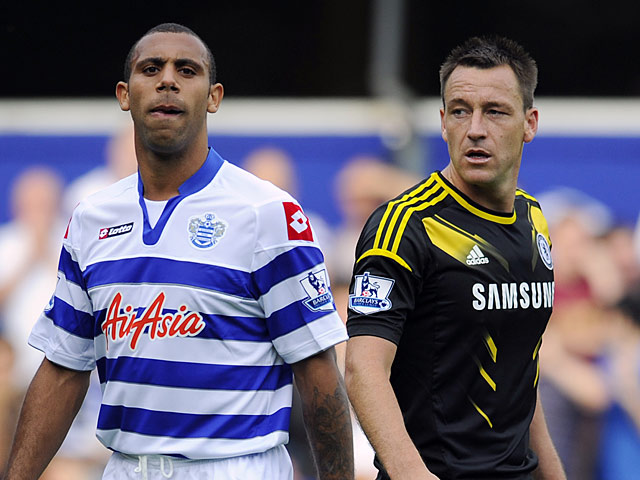 QPR's Anton Ferdinand and Chelsea's John Terry during their match on September 15, 2012