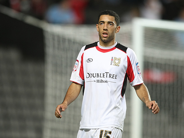 MK Dons' Danny Woodards in action on October 6, 2010