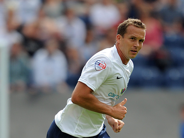 Preston's Kevin Davies in action against Wolves on August 3, 2013