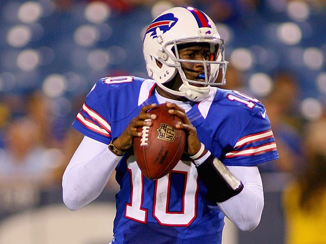 Buffalo Bills' Vince Young in action on August 25, 2012