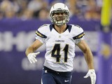 Corey Lynch of the San Diego Chargers runs a route against the Minnesota Vikings on August 24, 2012