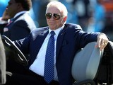 Jerry Jones of the Dallas Cowboys during their game at Bank of America Stadium on October 21, 2012