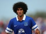 Marouane Fellaini in action for Everton during pre-season.