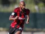Nicolas Anelka of West Bromwich Albion in action during the pre season friendly match between Puskas FC Academy and West Bromwich Albion at the Varosi Stadium on July 22, 2013