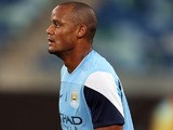 Vincent Kompany of Manchester City during the Manchester City training session at Moses Mabhida Stadium on July 17, 2013