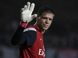 Wojciech Szczesny Arsenal FC during an Arsenal training session at Gelora Bung Karno Stadium on July 13, 2013