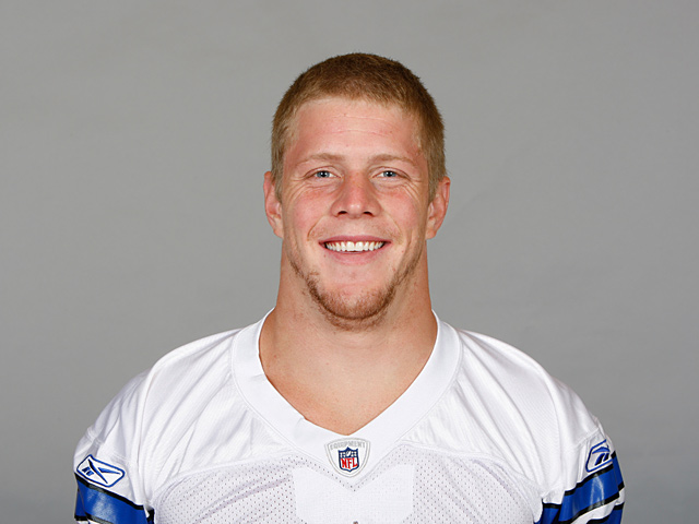 Headshot of Dallas Cowboys' Alex Albright on January 1, 2011