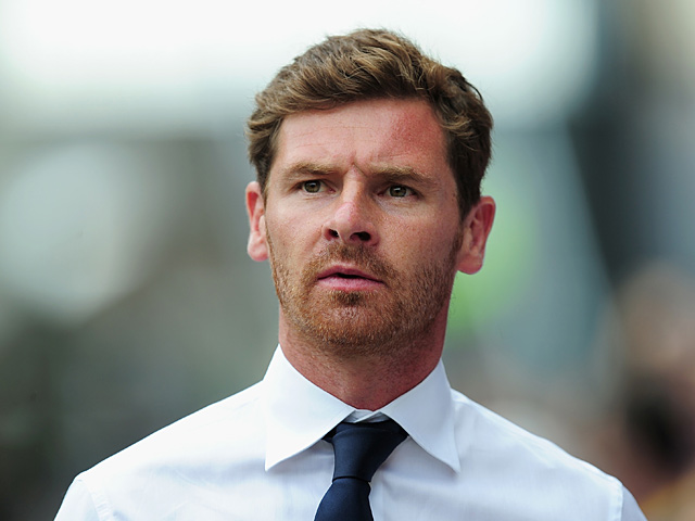 Spurs manager Andre Villas Boas prior to kick off against Crystal Palace on August 18, 2013