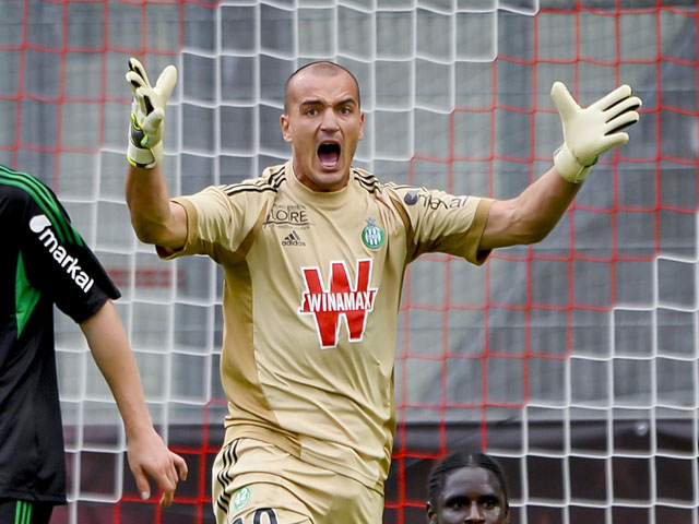 Saint-Etienne's goalkeeper Jessy Moulin during the match against Wolfsburg on July 9, 2013