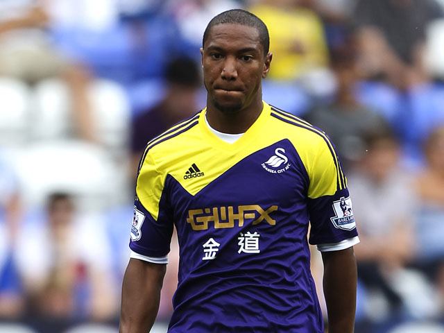 Jonathan de Guzman of Swansea in action during a pre season friendly between Reading and Swansea City at The Madejski Stadium on July 27, 2013