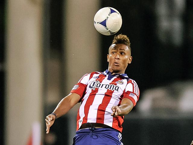 Chivas' Juan Agudelo in action on September 19, 2012