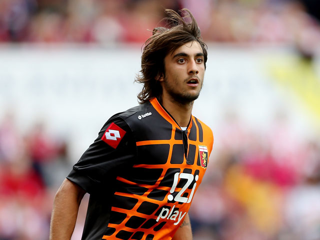 Perin of Genoa during a Pre Season Friendly between Stoke City and Genoa at Britannia Stadium on August 10, 2013