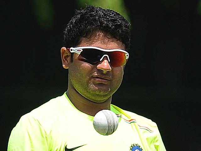 Indian cricketer Piyush Chawla during training September 25, 2012