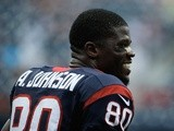 Texans WR Andre Johnson takes to the field against Miami on August 17, 2013
