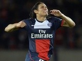 PSG forward Edinson Cavani celebrates a goal against Ajaccio on August 18, 2013
