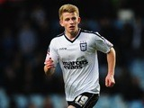Ipswich Town midfielder Luke Hyam in action against Aston Villa on January 5, 2013