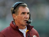 Washington Redskins head coach Mike Shanahan reacts during a game against the Philadelphia Eagles at Lincoln Financial Field on December 23, 2012