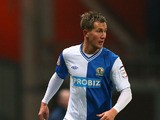Morten Gamst Pedersen of Blackburn Rovers runs with the ball during the npower Championship match between Blackburn Rovers and Brighton & Hove Albion at Ewood park on January 22, 2013