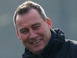 United coach Rene Meulensteen on the training ground on March 4, 2013
