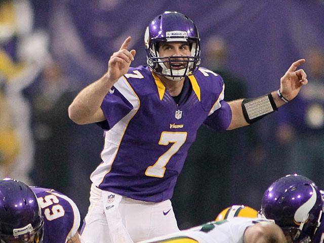 Minnesota Vikings' Christian Ponder in action against Green Bay Packers on December 30, 2012