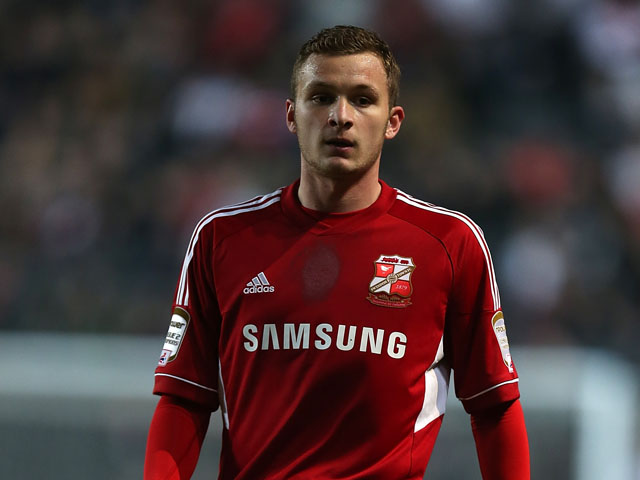 Dean Parrett of Swindon Town in action during the npower League One match between MK Dons and Swindon Town at stadium:mk on April 9, 2013