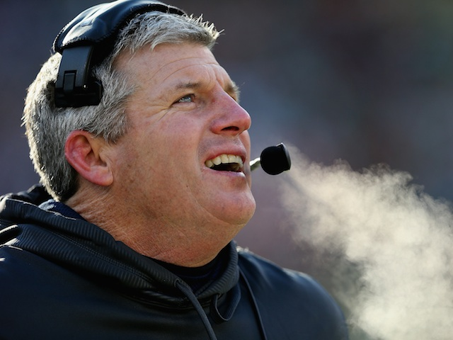 Titans coach Mike Munchak on the sideline during a game with Green Bay on December 23, 2012