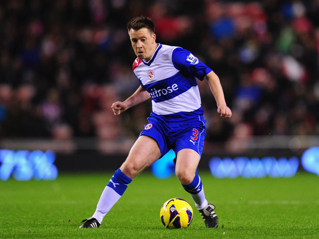 Reading player Nicky Shorey in action during the Premier League match between Sunderland and Reading at Stadium of Light on December 11, 2012