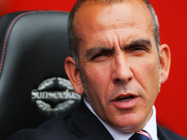 Sunderland manager Paolo Di Canio prior to kick-off in the match against Southampton on August 24, 2013