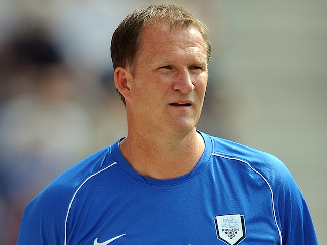 Preston's Simon Grayson during a game with Wolves on August 3, 2013