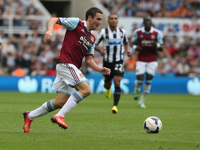West Ham's Stewart Downing in action against Newcastle on August 24, 2013