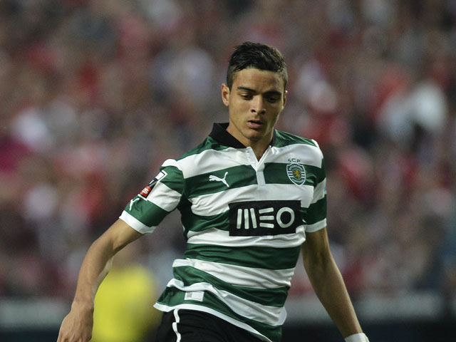 Sporting's defender Tiago Ilori during the Portuguese league football match SL Benfica vs Sporting CP at Luz Stadium in Lisbon on April 21, 2013