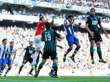Goalkeeper Kiko Casilla of RCD Espanyol goes for a high ball during the La Liga match between RCD Espanyol and Real Betis Balompie at Cornella-El Prat Stadium on September 1, 2013