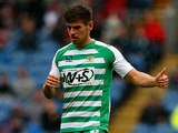 Yeovil's  Joe Edwards in action during the match against Burnley on August 17, 2013