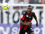 Nice's French forward Stephane Bahoken controls the ball during the French L1 football match Nice versus Montpellier, on March 10, 2013