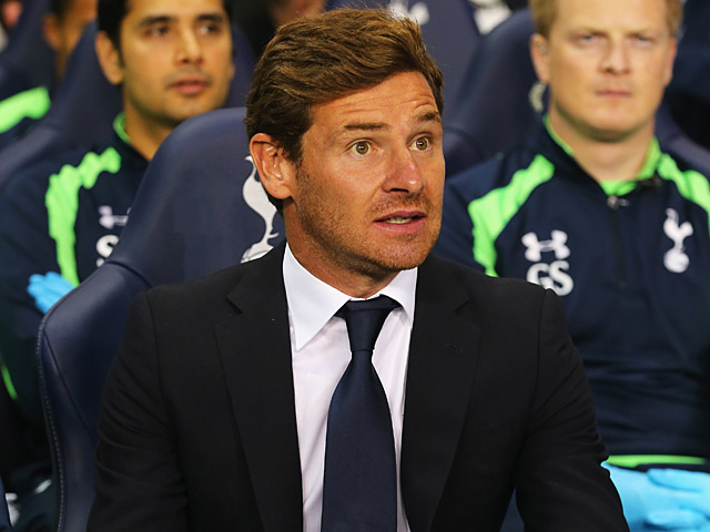 Spurs manager Andre Villas Boas during the match against Dinamo Tbilisi on August 29, 2013