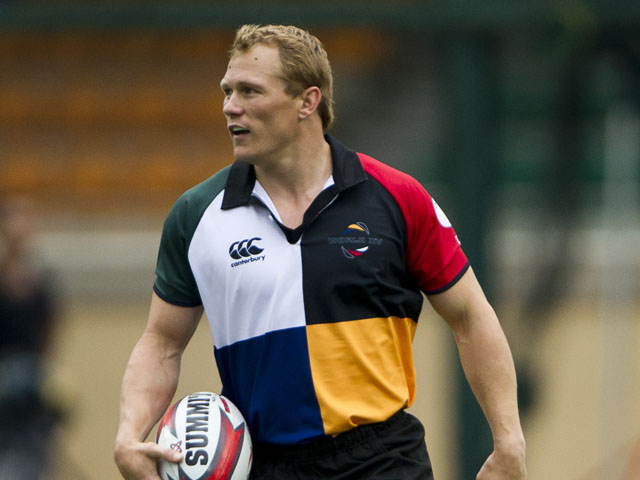 Josh Lewsey of England during the Chartis Cup match between the Asia Pac Barbarians and the World XV at Hong Kong Rugby Club on June 11, 2011