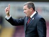 Northampton Town manager Aidy Boothroyd gives instructions during the Sky Bet League Two match between Northampton Town and Torquay United at Sixfields Stadium on August 24, 2013
