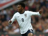 Daniel Sturridge of England in action on during the International Friendly match between England and the Republic of Ireland at Wembley Stadium on May 29, 2013
