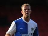 Blackburn Rovers striker Jordan Rhodes in action against Crewe Alexandra in a pre-season friendly on July 16, 2013