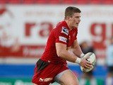 Scott Williams of Scarlets runs with the ball during the Heineken Cup match between Scarlets and Exeter Chiefs at Parc y Scarlets on December 8, 2012