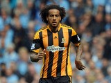 Tom Huddlestone of Hull City in action during the Barclays Premier League match between Manchester City and Hull City at the Etihad Stadium on August 31, 2013