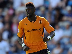 Bakary Sako of Wolverhampton Wanderers in action during the Sky Bet League One match between Preston North End and Wolverhampton Wanderers at Deepdale on August 03, 2013