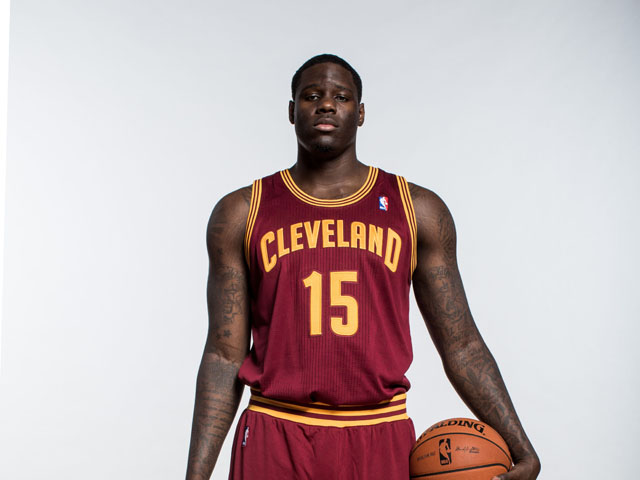 Anthony Bennett of the Cleveland Cavaliers poses for a portrait during the 2013 NBA rookie photo shoot at the MSG Training Center on August 6, 2013