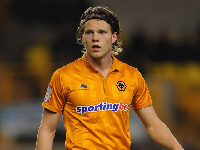 Bjorn Bergmann Sigurdarson of Wolves in action during the npower Championship match between Wolverhampton Wanderers and Watford at Molineux on March 1, 2013